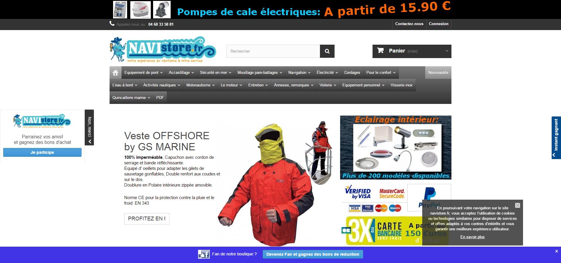 Navistore : boutique d'accastillage et équipements pour bateaux